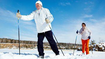 pariskunta, hiihto, talvi