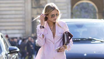Nina Suess Pariisin muotiviikoilla.