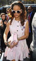 Rihanna vieraili Pariisissa 3.10.2015.