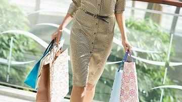 nainen, shoppailu, ostokset