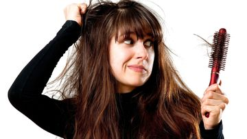 hiukset, nainen, pitkät hiukset, tukka, harjata, harja