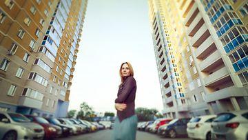 Nainen kaupungissa