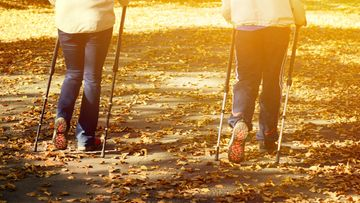 pari, sauvakävely, puisto