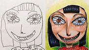 Fred Giovannittin taidetta lapsen piirroksesta. Copyright: Supplied by WENN.com. Photographer: CB2/ZOB.