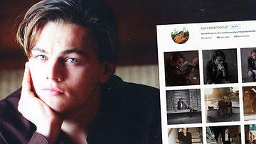 Aito Leonardo DiCaprio ja kuvakaappaus Instagramista