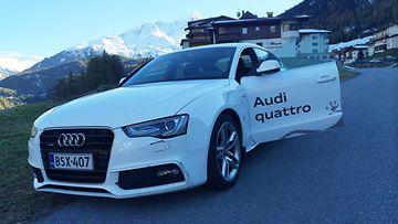 Alppimaajoukkueen autovalikoimasta löytyy myös Audi A5.