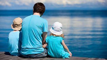 isä ja lapset, meri