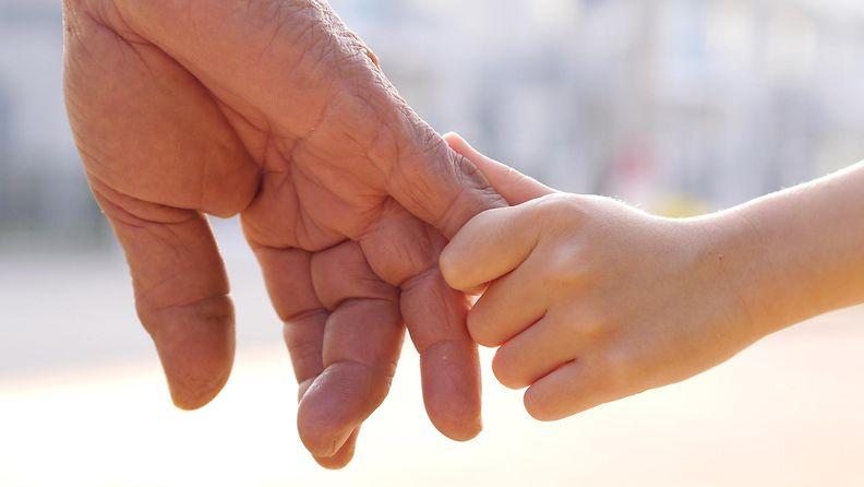 kädet, aikuinen, lapsi