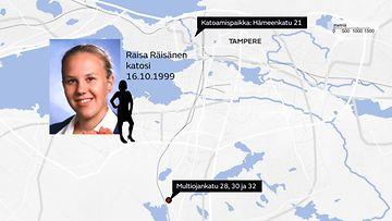Raisa Räisänen Tampere kadonnut kartta