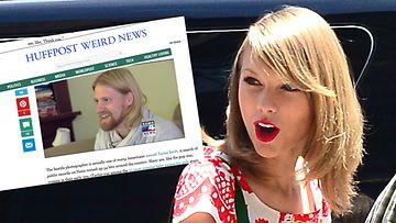 Taylor Swift ja Taylor Swift, kuvakaappaus Huffingtonpost.comista
