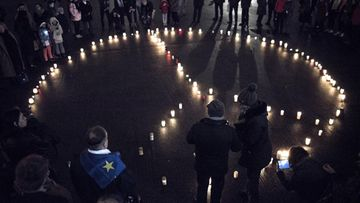 Kynttilämielenosoitus Helsinki 14.11.2015