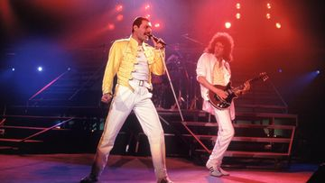 Queen, Freddie Mercury, Brian May 1985