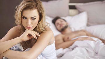 pariskunta, seksi, sänky, pettynyt