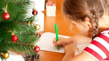 joulutoive, tyttö, kirje