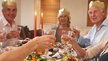 joulu, sukulaiset, illallinen
