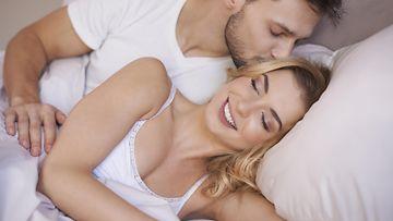 pariskunta, seksi, aamu