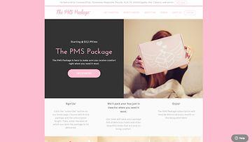 Ruutukaappaus PMS-pakettia myyviltä sivuilta.