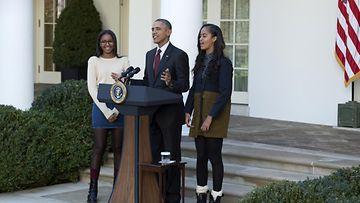 Obama ja tyttäret