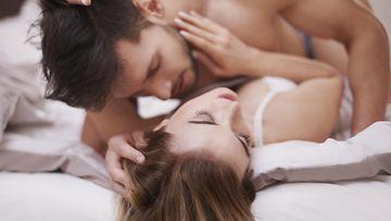 seksi, sänky, pariskunta