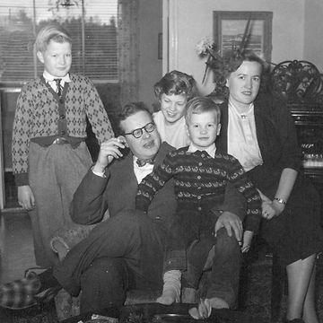 Toivo Kärki 1951 ja perhe