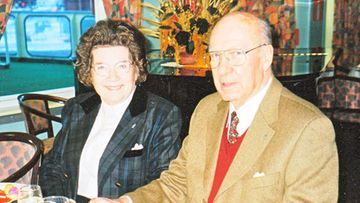 Aune ja Olli tammikuussa 1998