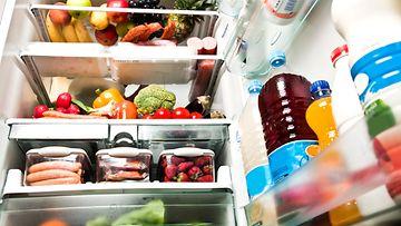 Jääkaappi auki