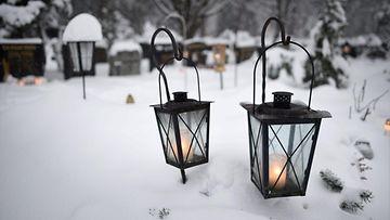 joulu, kynttilät, hautausmaa