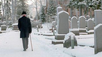 joulu, hautausmaa, pappa