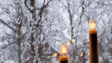kynttilät, joulu, ikkuna