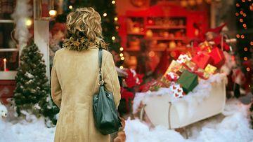 joulu, nainen, lahjat