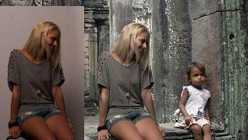 Zilla-niminen nainen väitti photoshopin avustuksella olevansa eksoottisella lomalla! (1)