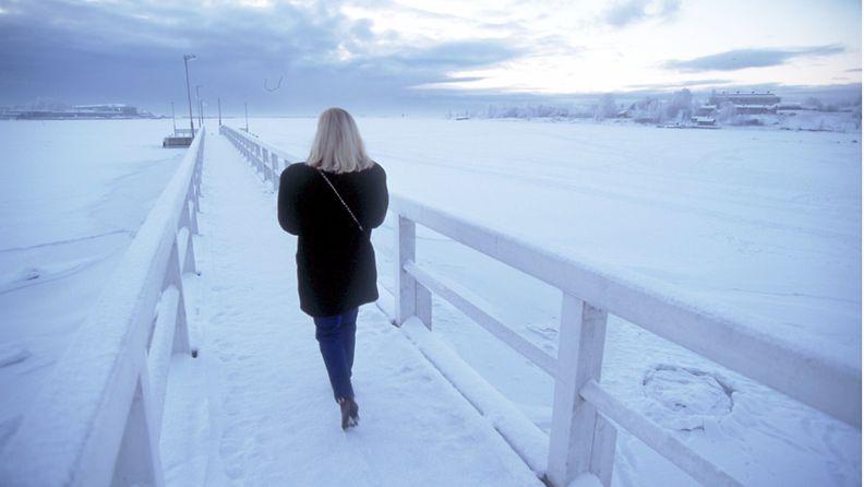 nainen, talvi