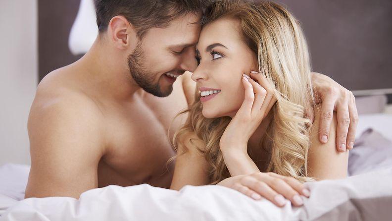 seksi, pariskunta, nainen, mies, sänky