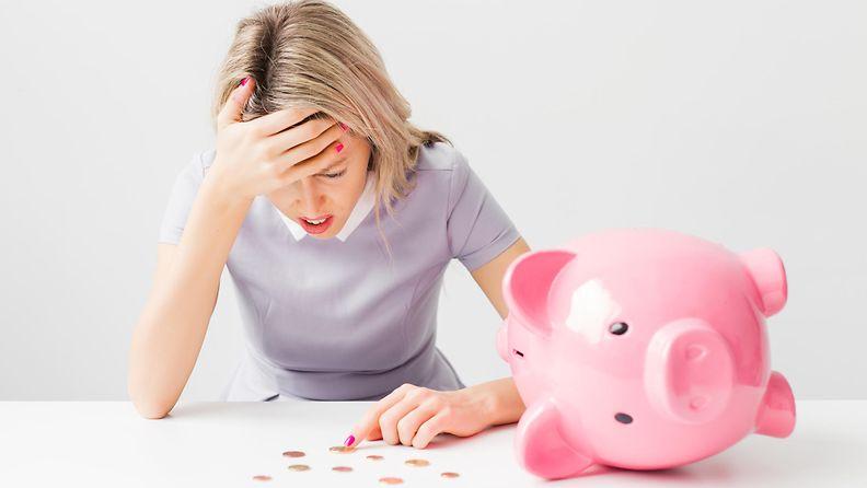 Rahatilanne voi masentaa tammikuussa.