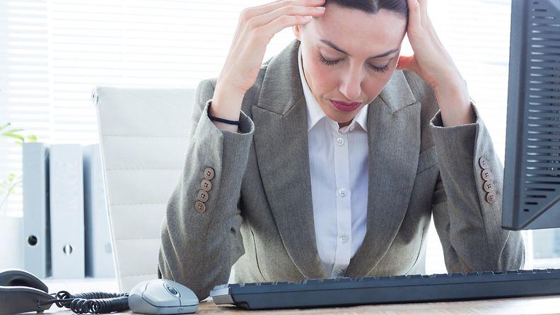työ, stressi, nainen