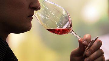 Viinilasi tuoksu