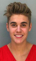 Justin Bieber pidätyskuva