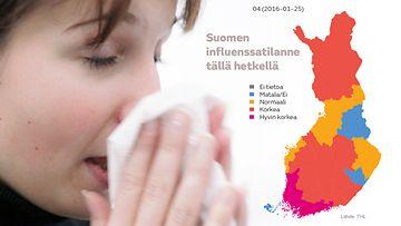 Influenssa leviää nyt rajusti – katso kartat taudin etenemisestä - Kotimaa - Uutiset - MTV.fi