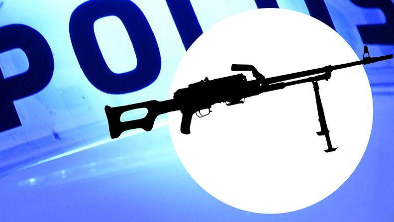 Poliisi konekivääri