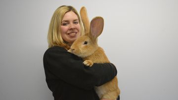 Animal Care Assistant Emma Calder with Atlas