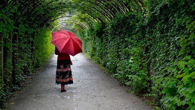 nainen_sateenvarjo