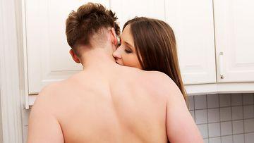 seksi keittiössä
