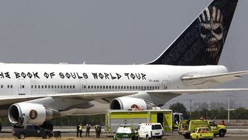iron maiden ed force one lentokone