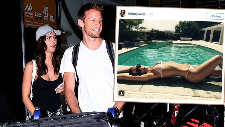 Jenson Button ja Brittny Ward insta 2016