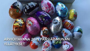 Lapset arvioivat pääsiäismunat