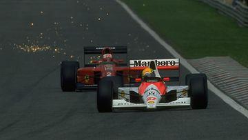 Nigel Mansell, Ayrton Senna, 1990, Estoril, Portugali, Portugalin GP