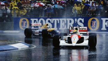 Nigel Mansell, Ayrton Senna, Adelaide, Australian GP, 1991