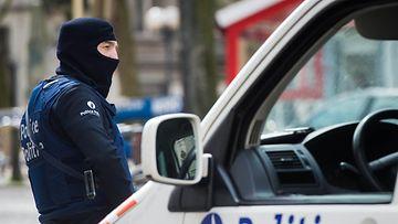Poliisioperaatio Brysselissä 9. huhtikuuta 2016.