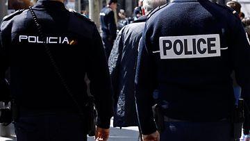 poliisi espanja kuvitus