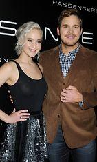 Jennifer Lawrence ja Chris Pratt 12.4.2016
